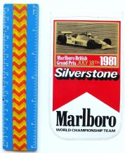 MARLBORO British GP 1981  sticker  unused